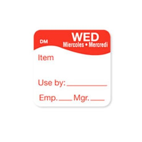 "1"" x 1"" DM 500 Wednesday ""Use By"" Labels (1100733)"