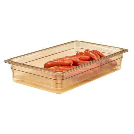 "Cambro® Amber  Full Pan 3"" Colander (13CLRHP150)"