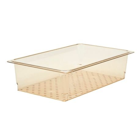 "Cambro® Amber Full Size Colander 5"" (15CLRHP150)"