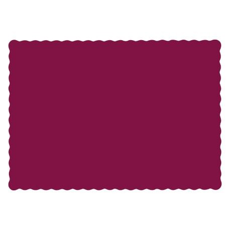 "Burgundy 9.5"" x 13.5"" Scalloped Edge Placemat (310524)"
