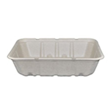 "AmerCareRoyal® PrimeWare® Tan 7"" x 9"" Shallow Molded Fiber Food Containers (TSC-79)"