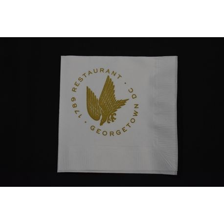 1789 Eagle Logo 3 Ply Beverage Napkins
