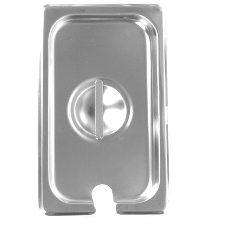 1/3 Size Slotted Stainless Steel Steam Table Pan Cover