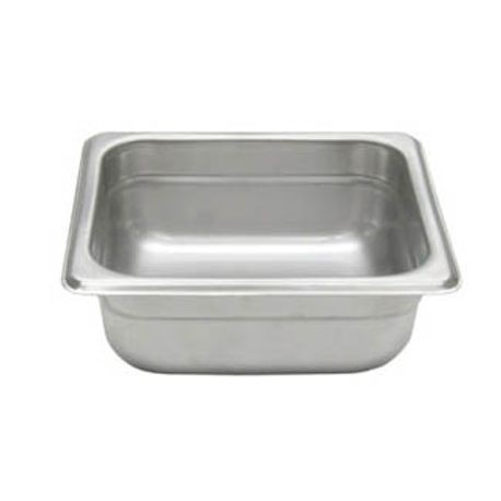 "Admiral Craft® 1/6 Pan 2.5"" D. Stainless Steel. NSF listed. (43106)"