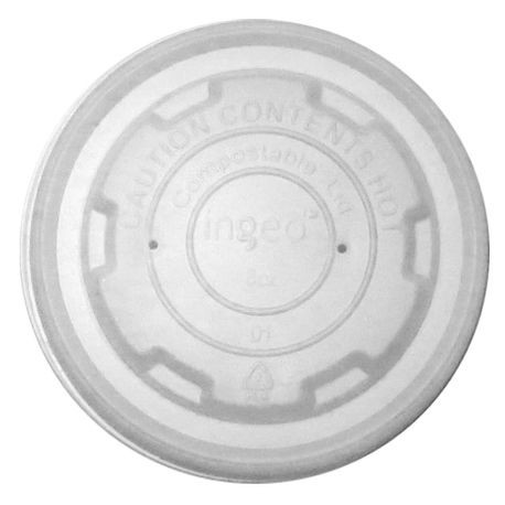AmerCareRoyal® PrimeWare® 8 oz Compostable-CPLA Food Container Lid (CFCL-8)