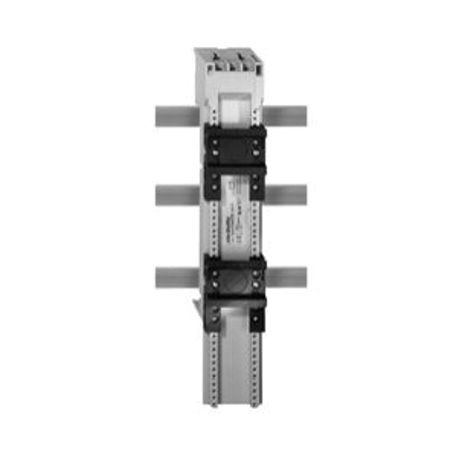 Allen-Bradley 141A-FM45SS25 Standard Busbar Adapter With Terminals, For Use With IEC Busbar, 32 A, 10 AWG, Plastic Top and Bottom Hat Rail