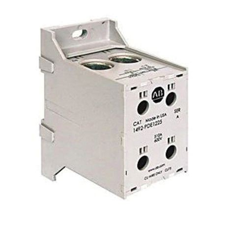 Allen-Bradley 1492-PDE1141 Enclosed Power Distribution Block, 600 VAC/VDC, 175 to 510 A, 1 Poles, 14 to 2/0 AWG Line, 14 to 2 AWG Load Wire