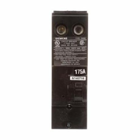 Siemens QN2175RH Type QNRH Low Voltage Reversible Molded Case Circuit Breaker, 120/240 VAC, 175 A, 22 kA Interrupt, 2 Poles, Thermal Magnetic Trip