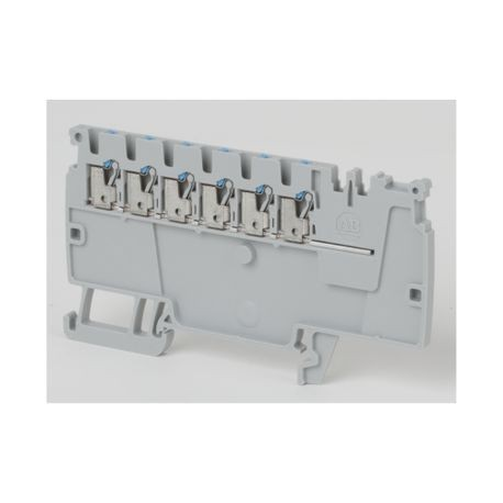 Allen-Bradley 1492-P6PD2E-6B 1-Circuit Feed-Through Terminal Block, 300 VAC/VDC, 13 A, 26 to 14 AWG Wire, DIN Rail Mount