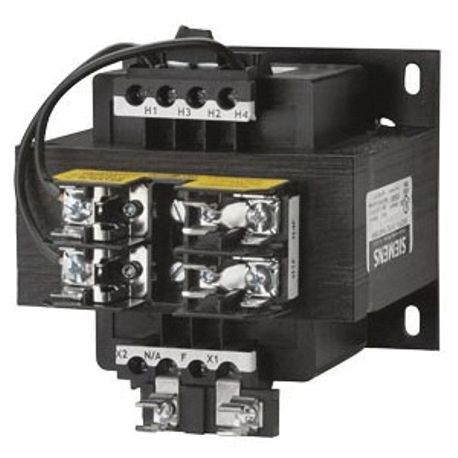Siemens KT6300 Control Power Transformer, 600 VAC Primary, 24 VAC Secondary, 300 VA Power, 50/60 Hz Frequency, 1 Phase