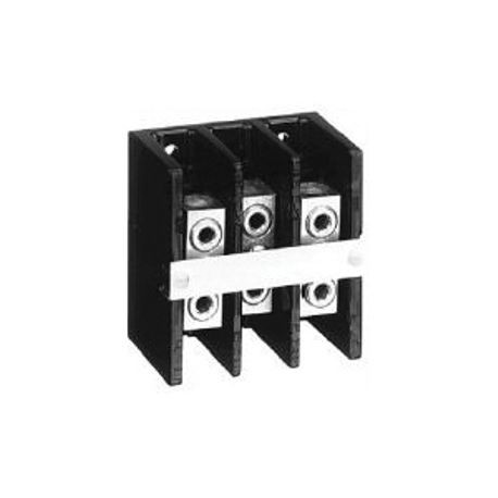 1492 Power Block, Standard Feed-Through/Splicer Block, 3-Pole, Aluminum, 1 Opening Line Side, 1 Opening Load Side, 175 Amps