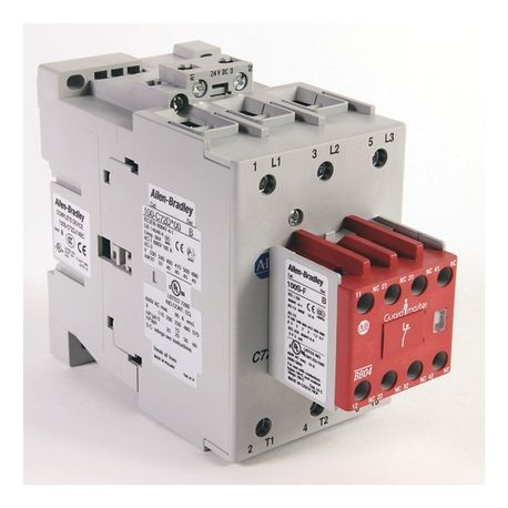 100S-C Safety Contactor, 72A, Line Side, 24V DC (w/Integrated Diode), 3 N.O., 1 N.O. 4 N.C.