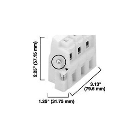 1492 Panel Mount Block, Pull apart, 3-Pole