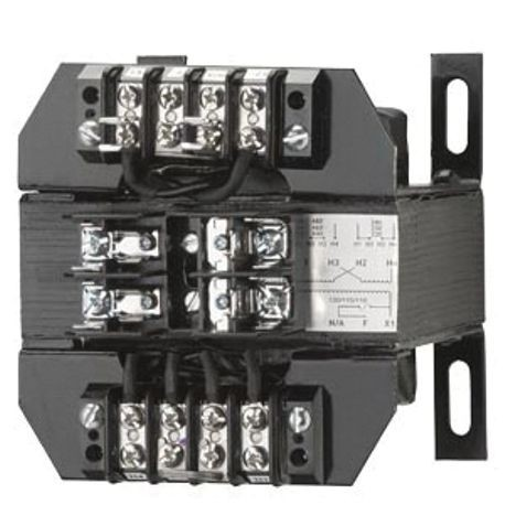 Siemens KTH500 Control Power Transformer, 208 VAC Primary, 120 VAC Secondary, 500 VA Power, 50/60 Hz Frequency, 1 Phase
