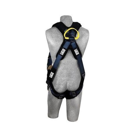 3M DBI-SALA Fall Protection ExoFit™ XP 1110841 Arc Flash Harness, L, 310/420 lb Load, Nylon Strap, Quick-Connect Leg Strap Buckle, Quick-Connect Chest Strap Buckle, Blue