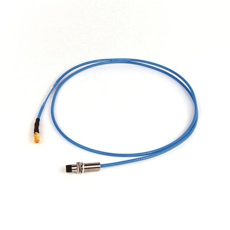 1442 Eddy Current Probe, Reverse Mount Probe, 8 mm / 2 mm (80 mils) probe diameter, 1.2 inches body length, 1 Meter cable length, No Armor