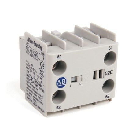 100-K/104-K/700-K Auxiliary Contact Blocks, Screw-In Terminals, Starting at 5-, 1 N.O. / 1 N.C., Shipped In Package Quantities of 1