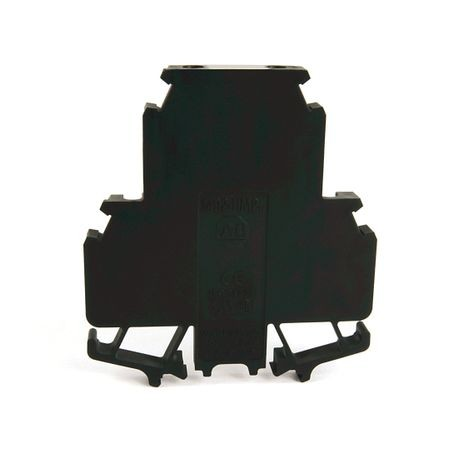 1492-H Finger-Safe Terminal Blocks, H-Block,Code 2,Black,No Bulk Pack (Single Block)