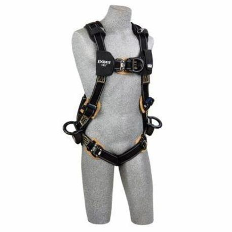 3M DBI-SALA Fall Protection ExoFit™ NEX™ 840779-01241 Arc Flash Positioning/Climbing Harness, XL, 420 lb Load, Duo-Lok™ Quick-Connect Leg Strap Buckle, Kevlar® Fiber Webbing/Nomex® Hardware, Black