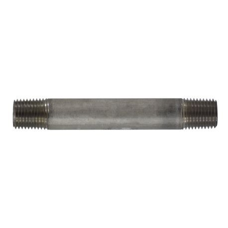 MMM 48021 Corrosion-Resistant Pipe Nipple, 1/4 in Nominal, MNPT End Style, SCH 40, 304 Stainless Steel, Import