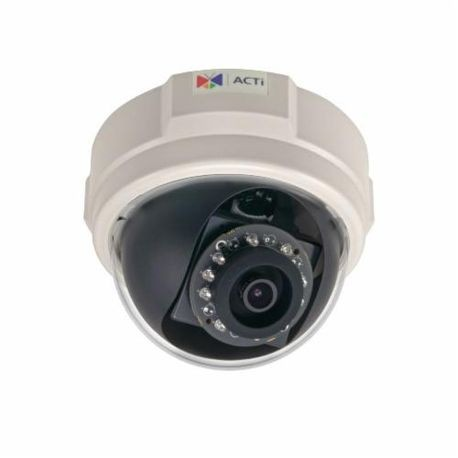 ACTi E54 Dome Camera, Fixed Lens, 5 MP Pixels, MJPEG Video Outputs, Indoor Indoor/Outdoor