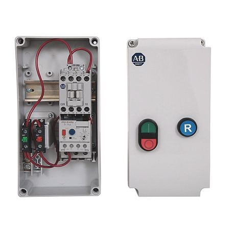 109C IEC Enclosed Non-reversing Non-Combination Starter, 100-C23, Type 1/4/4X/12K - IP66 Plastic - Small (Indoor/Outdoor Use), 110V 50Hz / 120V 60Hz, E1 Plus OLR n/a
