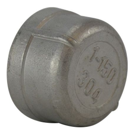 MMM 62475 Pipe Cap, 1 in Nominal, NPT End Style, SCH 40, 150 lb, 304 Stainless Steel, Import