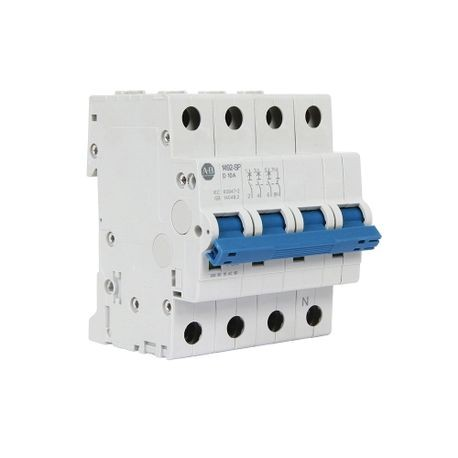 Allen-Bradley 1492-SPM3C100-N AC Supplementary Protector With Neutral, 480Y/277 VAC, 10 A, 10 kA Interrupt, 3 Pole, Trip Curve C Trip