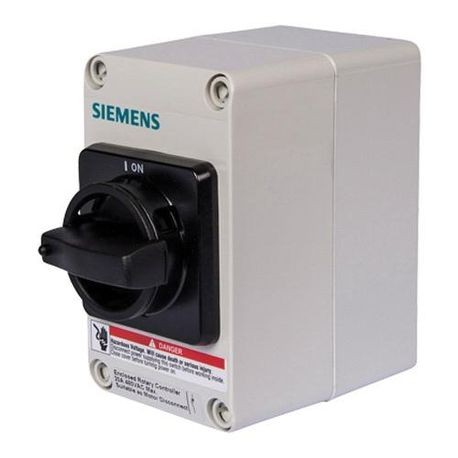 Siemens HNFC263J Enclosed Heavy Duty Non-Fusible Safety Switch, 600 VAC, 100 A, 40 hp, DPST Contact Form, 2 Pole