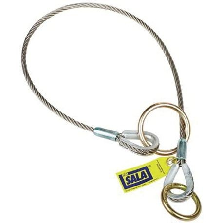 3M DBI-SALA Fall Protection 5900550 Choker/Pass-Thru Reusable Cable Tie-Off Adapter With 3 in Dia O-Ring, For Use With: Fall Protection System, Specifications Met: ANSI Z359.18,OSHA 1910.140/1926.502