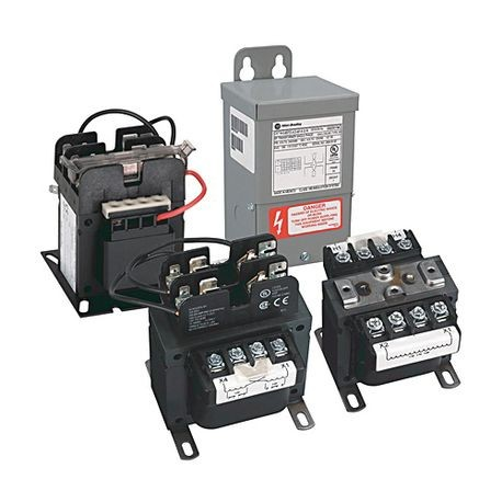 Rockwell Automation 1497-M-M4-0-N Multi-Tap Control Circuit Transformer, 380/400/415 VAC Primary, 115/230 VAC Secondary, 2000 VA Power, 50 Hz Secondary Frequency