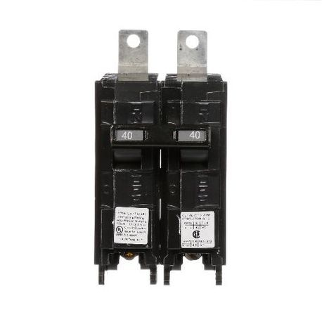 Siemens SpeedFax™ B240HH Molded Case Circuit Breaker, 120/240 VAC, 40 A, 65 kA Interrupt, 2 Poles, Thermal Magnetic Trip