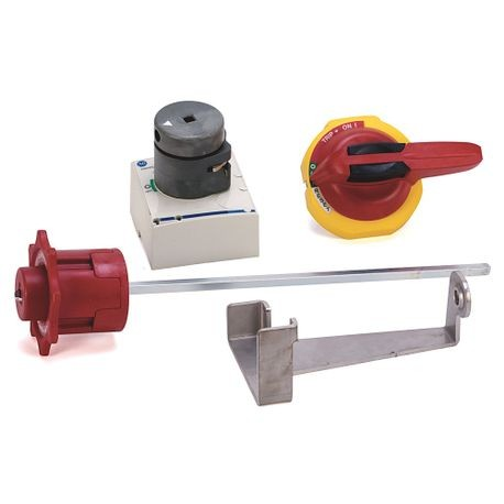 "140G/1494V Product Handle Accessories/Operating Mechanisms, 140G Rotary, Rotary Handle with NFPA79 Handle, 12"", Red/Yellow"