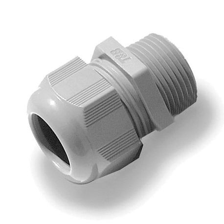 ABB CC-NPT-38-B Straight Cable Gland Connector, 3/8 in NPT Thread, 0.197 to 0.394 in Diameter Cable, 0.59 in Thread Length, Nylon