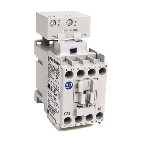 100-C IEC Contactor, 24V DC Electronic Coil, Screw Terminals, Line Side, 23A, 1 N.O. 0 N.C. Auxiliary Contact Configuration, Single Pack