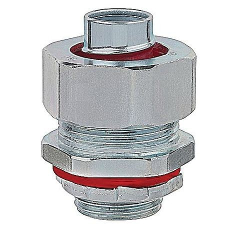 ABB LT75T-SC Insulated Straight Liquidtight Conduit Connector, 3/4 in Trade, Steel, Zinc Plated