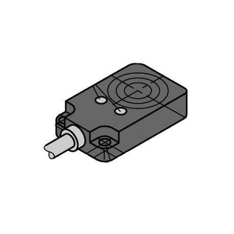 Turck BI8U-Q10-AP6X2-0 2M-PSG 3M Rectangular Inductive Sensor, PNP Output,  NO, 10 to 30 VDC