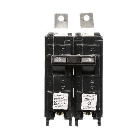 Siemens SpeedFax™ B225HH Molded Case Circuit Breaker, 120/240 VAC, 25 A, 65 kA Interrupt, 2 Poles, Thermal Magnetic Trip