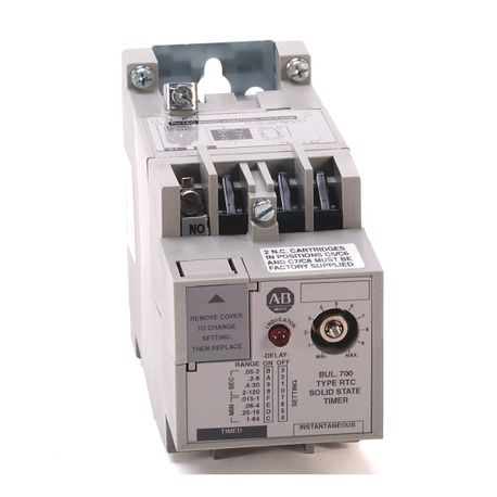 700-RTC Industrial Solid State Timing Relay, No Potentiometer, Adjustable on