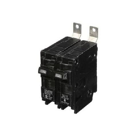 Siemens SpeedFax™ B2100HH Molded Case Circuit Breaker, 120/240 VAC, 100 A, 65 kA Interrupt, 2 Poles, Thermal Magnetic Trip