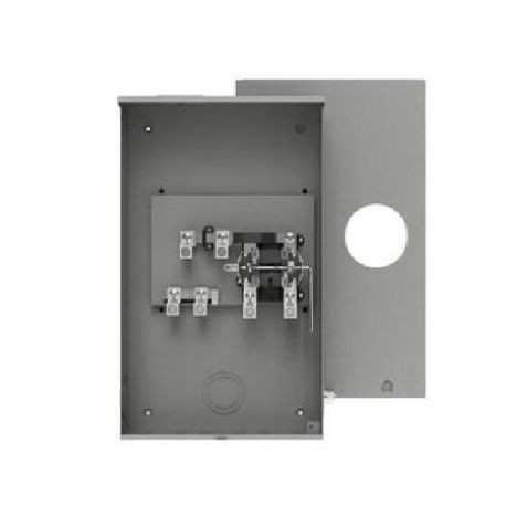 Siemens S48704-82GP Ringless Meter Socket With Lever Bypass, 600 VAC, 320 A, 1 Phase, NEMA 3R Enclosure