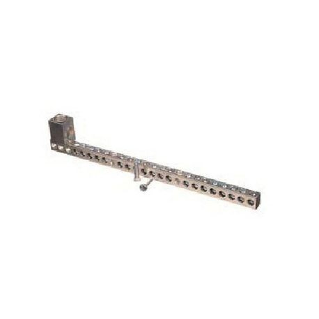 Siemens ECGB202 Ground Bar Kit, 14 to 4 AWG, 6 to 2/0 AWG Aluminum/Copper Conductor, 20 Terminals, For Use With: Legacy Loadcenter