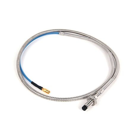 1442 Eddy Current Probe, Standard Mount Probe, 8 mm / 2 mm (80 mils) probe diameter, 30 mm body length, 1 Meter cable length, Armored Cable