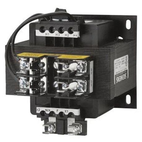 Siemens KT4300 Control Power Transformer, 240/480 VAC Primary, 24 VAC Secondary, 300 VA Power, 50/60 Hz Frequency, 1 Phase
