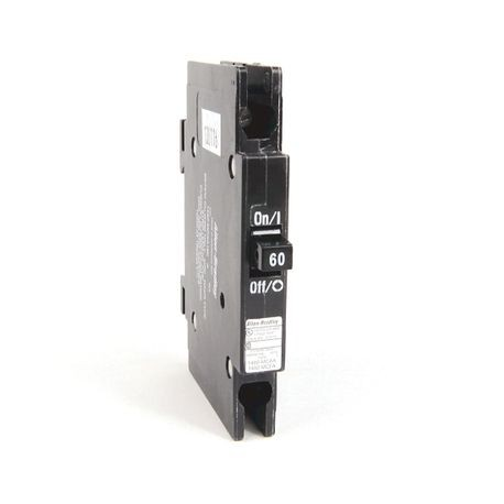 "1492-MC Circuit Breaker, 1492 Miniature Circuit Breaker, Circuit Breaker - ½"" wide per pole, DIN rail mounting, 10 kA, 1 Pole, 60 Amps, Standard Terminal, None"