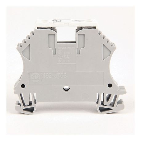 1492-J IEC Terminal Block, Two-Circuit Thermocouple Block, 2.5 mm (# 24 AWG - # 12 AWG), Type E / 1 Cromel, 1 Constantan, Gray (Standard),