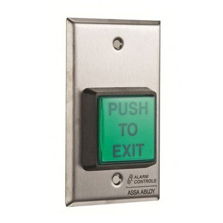 Alarm Controls TS-2-2 Square Door Switch, 120 VAC, 35 VDC, 10 A, DPDT Contact