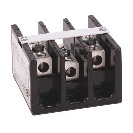 1492 Power Block, Standard Feed-Through/Splicer Block, 3-Pole, Aluminum, 1 Opening Line Side, 1 Opening Load Side, 115 Amps