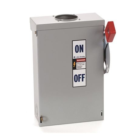 Rockwell Automation 1494H-BN3H2 Fusible Heavy Duty Rainproof Safety Switch, 240 VAC, 30 A, 2 to 3 hp, 1-1/2 to 3 hp, 3 to 7-1/2 hp, 5 hp
