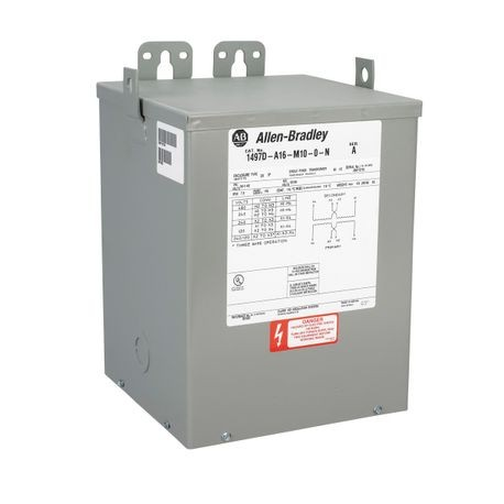 1497D - CCT, 2.0kVA, 480V 60Hz Primary, 0 Primary - 0 Secondary Fuse Blocks, No Taps